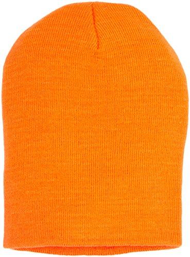 Masterdis Beanie Basic Flap, Farbe:neonorange;Größe:one-size