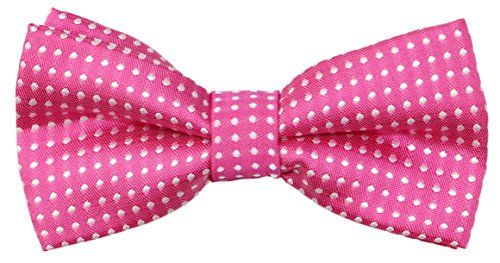OCIA Little Boys' Classic Polka Dots Bow Tie Pink (Trendy Bow Ties compare prices)