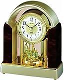 SEIKO CLOCK(セイコークロック) スタンダード電波メロディ置時計(濃茶) BY226B