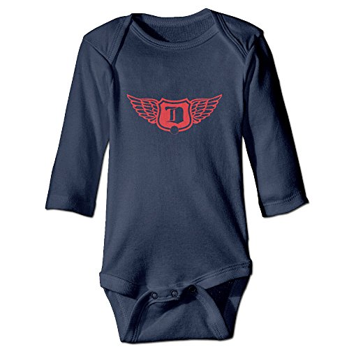 [DETED Red Wings Logo Cute Infant Baby's Romper Jumpsuit Size18 Months Navy] (Red Octopus Pajama Costumes)