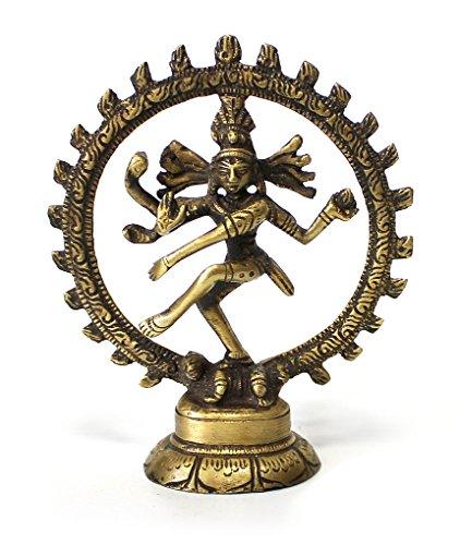 Deko-Figur-tanzende-Shiva-Nataraj-im-Rad-Statue-Figur-aus-reinem-Messing-Hhe-105-cm-gro-Gott-in-Asien-Herr-des-Tanzes