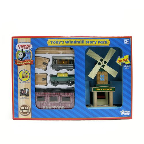 Learning Curve Thomas Wooden Railway Set Thomas and Friends Toby's Windmill Story Pack