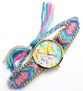 [ミサンガウォッチ] 腕時計 ブレスレット ファッション アクセサリー ジュエリー ボヘミアン micanga watch レディース [並行輸入品]