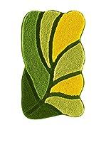 Pandora Set Alfombra de Baño 3 Uds. Arsus Verde/Amarillo 60 x 100 cm + 55 x 60 + 47 x 50 cm