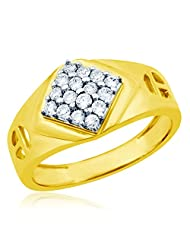 Eldora 18 Kt Gold Plated With American Diamond Ring For Men(PGR00235-A)