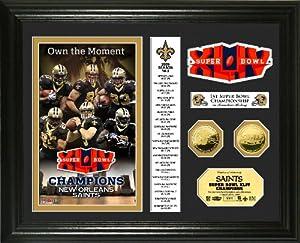 Highland Mint New Orleans Saints Super Bowl XLIV Champions 24KT Gold Coin Banner... by Hightland Mint