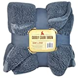 "Cuddly Cabin Throw - 60"" x 70""- Color: Blue"