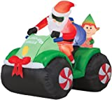 Inflatable Airblown Animated Santa With Elf Halloween Holiday Prop