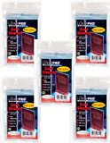 500 Ultra Pro Soft Card Sleeves/Penny Sleeves (5 Sealed Packs) - Standard Size 2 5/8 x 3 5/8, NO PVC