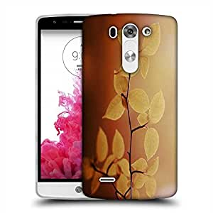 Snoogg Lite Green Leaves Designer Protective Phone Back Case Cover For LG G3 BEAT STYLUS