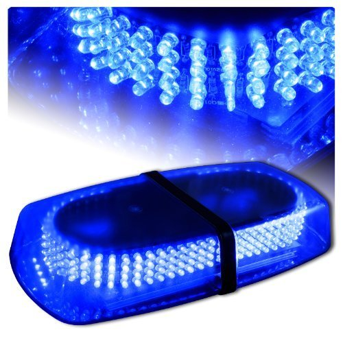 Wecade® Blue Vehicle Car Truck Emergency Hazard Warning 240 LED Mini Bar Strobe Flash Light (Emergency Blue Light Bar compare prices)