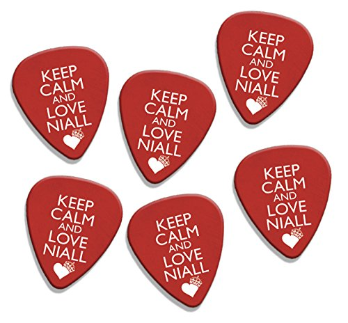 Keep Calm And Love Niall Horan One Direction 6 X Loose Logo Guitar Picks (GD) (One Direction Guitar Accessories compare prices)