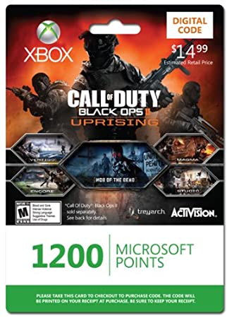 Xbox LIVE 1200 Microsoft Points for Call of Duty: Black Ops II Uprising [Online Game Code]