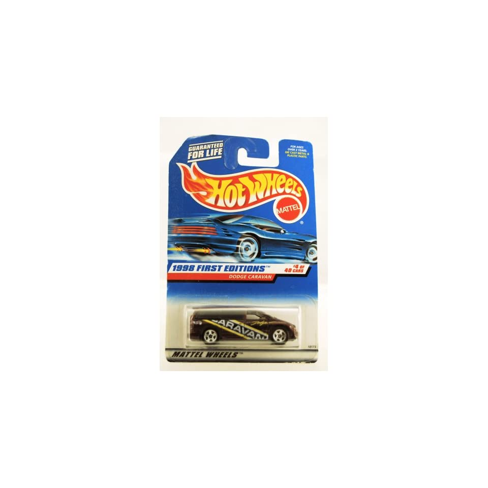 Hot Wheels   1998 First Editions   Dodge Caravan   Purple Custom Paint   #4 of 40 Cars   Collector #633   Limited Edition   Collectible