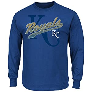 MLB Mens Basic Long Sleeve T-Shirt, Team Color by Majestic