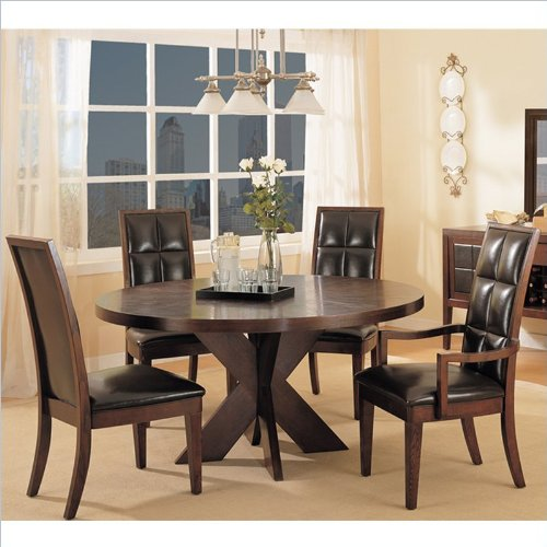 Black Friday Modus Furniture Hudson Round X Base Dining Table Mocha Cyber Monday Sale Cyber