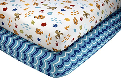 Disney Nemo Wavy Days 2 Piece Sheet Set - 1
