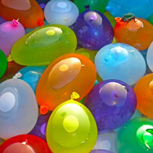Mylife (Tm) Multi Colored - Flexible Latex Rubber (100 Count Pack - Standard Size) Water Bomb Grenade Balloons (Water And Sun Equals Fun)