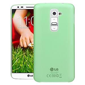 CUBIX® LG G2 Case, Hard (Semi Transparent) Super Slim Matte Back Cover For LG G2 (Green)