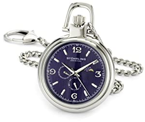 Stuhrling Original Men's 142A.EU.PK6 Lifestyle Collection Monarch Moon Quartz Pocket Watch