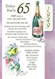 Lilac 65th Birthday Card - 1949 Was A Very Special Year - 2014 Year Card