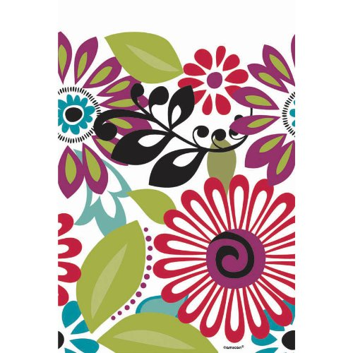 Modern Floral Paper Tablecover (1ct)
