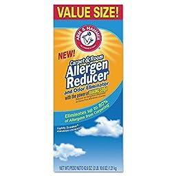 Arm & Hammer CDC 33200-84113 CDC3320084113CT Carpet for Room Allergen Reducer and Odor Eliminator, 42.6 oz. Box (Pack of 9)