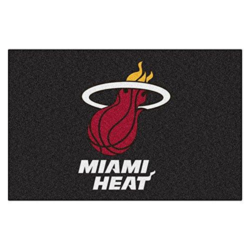 FANMATS NBA Miami Heat Nylon Face Starter Rug