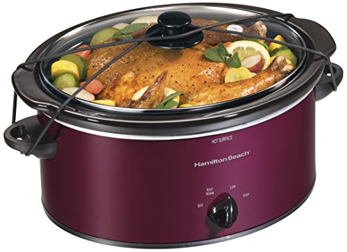Hamilton Beach 33355 Portable Slow Cooker, 5 quart, Red (Tender Cooker Gasket compare prices)