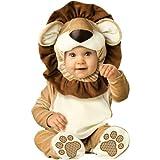 InCharacter Unisex-baby Newborn Lovable Lion Costume, Brown Tan Cream, Small