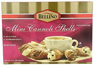 Bellino Mini Cannoli Shells, 3 Ounce Boxes, 12 Count Shells