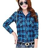 (マガザンレーブ) mgzan rev レディース ファッション トップス シャツ ブラウス カジュアル チェック 柄 長袖