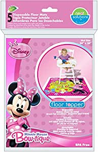 Neat Solutions Disney Disposable Floor Topper, Minnie Mouse
