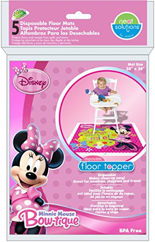 Neat Solutions Neat Solutions Disney Disposable Floor Topper, Minnie Mouse