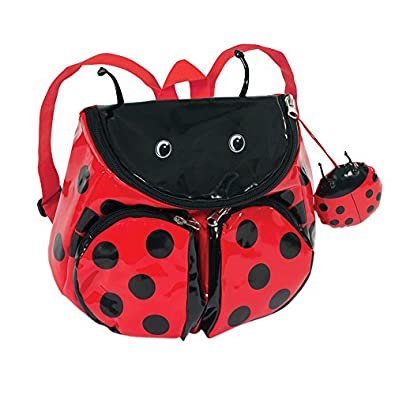 Kidorable Ladybug Backpack, Red, One Size