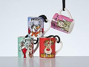 4 mini krug mit spruch weihnachten lustig schnapsglas mit henkel nikolaus spielzeug. Black Bedroom Furniture Sets. Home Design Ideas