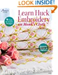 Learn Huck Embroidery on Monk's Cloth...