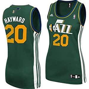 Utah Jazz Gordon Hayward #20 Adidas Ladies Replica NBA Jersey (Green) by adidas