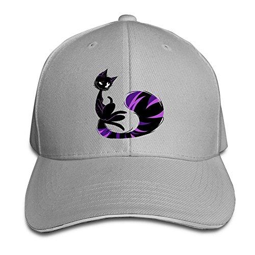 Cool-XJ-Sunbonnet, motivo: gatto con cappello con visiera, regolabile, in legno di frassino per Sandwich grigio Taglia unica
