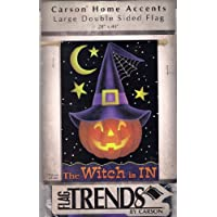 Pumpkin Witch Halloween Large House Flag 28