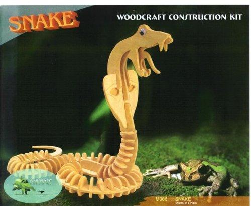 Woodcraft Construction Kit Snake 3 D