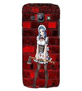 Fuson 3D Printed Girly Designer back case cover for Samsung Galaxy J1 - D4600