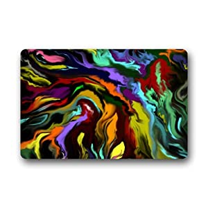 Amazon Cool Abstract Colorful Lines Art Non woven