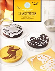 Martha Stewart Set of 3 Halloween Cake Stencils - Bats, Skulls, and Flying Witch