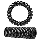 Fashion & Lifestyle Hair Ties Ponytail Holders - Large Boutique Girls Stretchy Elastic Hair Ropes Bands Styling Accessories for Women and Ladies Pack of 20, Black