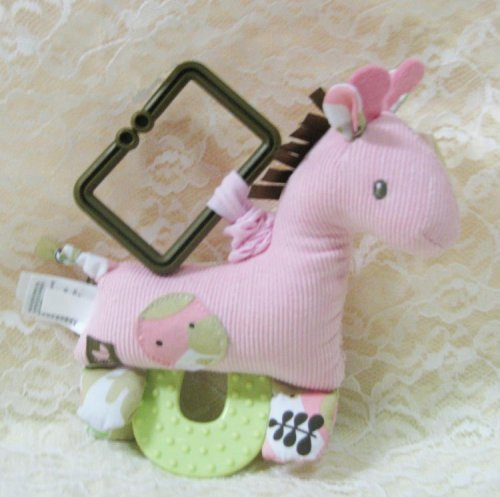 Baby Gund Pink Giraffe Pull Down Teether