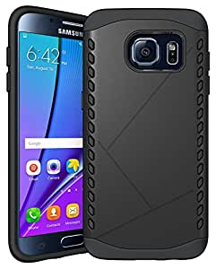 98Gadgets 2 In 1 Hybrid Case Cover For Samsung Galaxy S7 Edge Hard Cool Slim Cover Protective Black