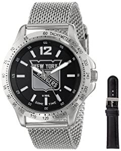 Game Time Mens NHL-CAG-NYR Cage NHL Series New York Rangers 3-Hand Analog Watch by Game Time