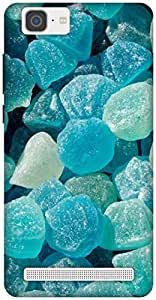 The Racoon Grip blue jelly rocks hard plastic printed back case / cover for Vivo X5 Max