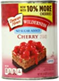 Wilderness No Sugar Added Pie Filling & Topping, Cherry, 20 Ounce (Pack of 12)